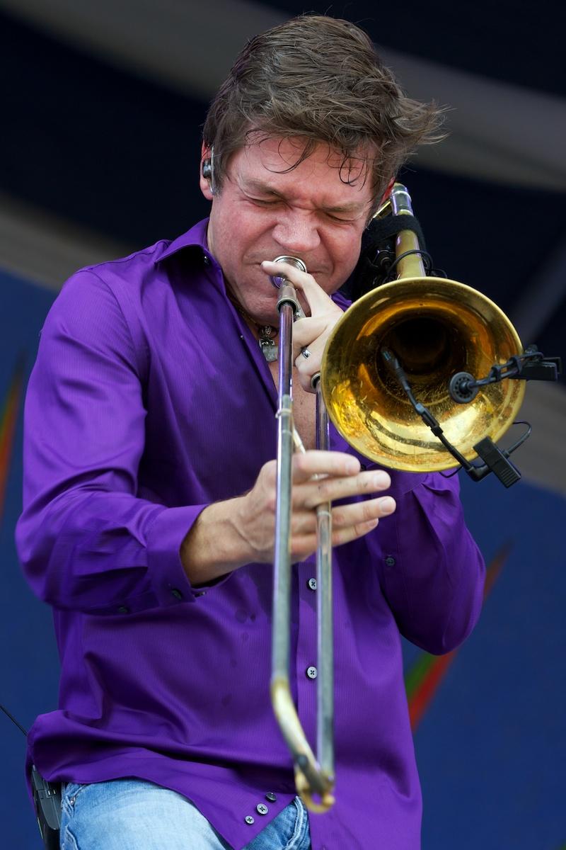 Bonerama's Mark Mullins, wah-wah to the 'bone