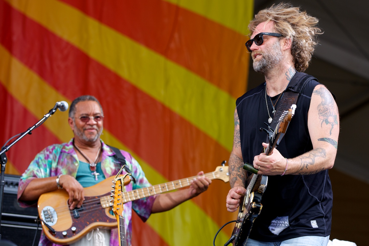 George Porter, Jr. and Anders Osborne raise their musical voice