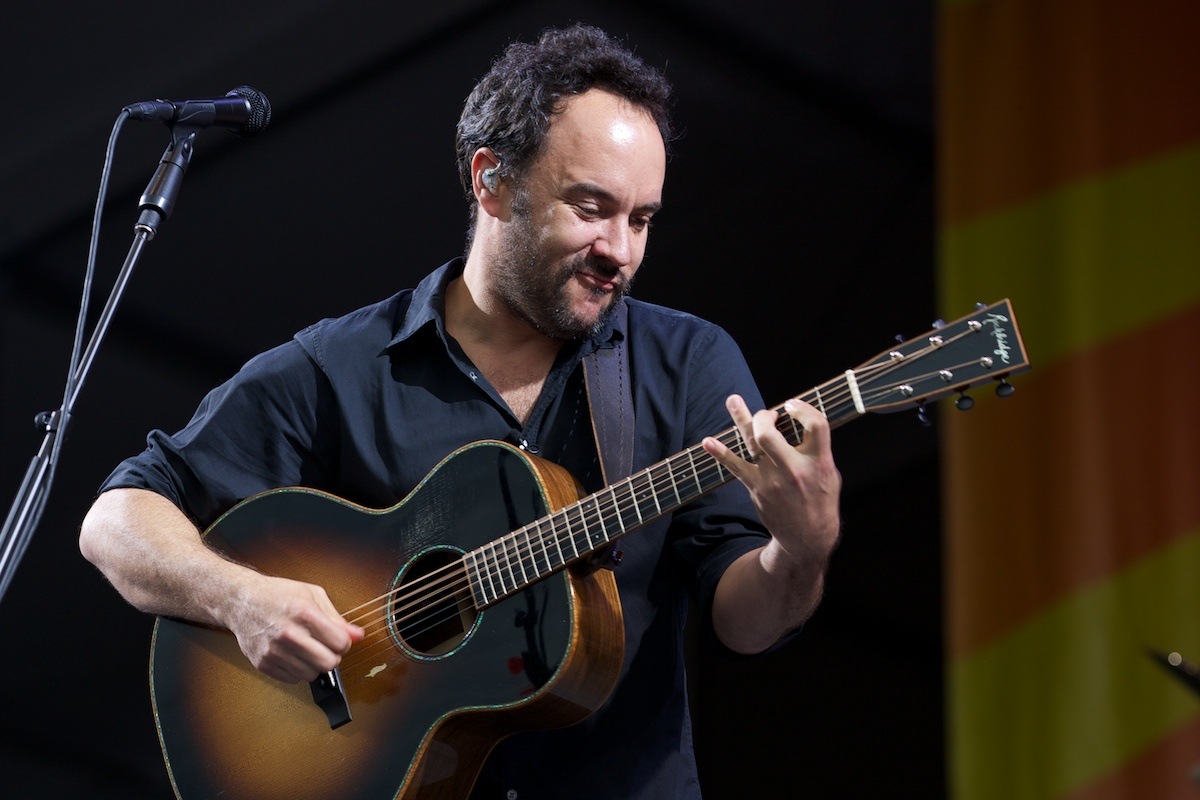 A dry Dave Matthews (but not for long)...