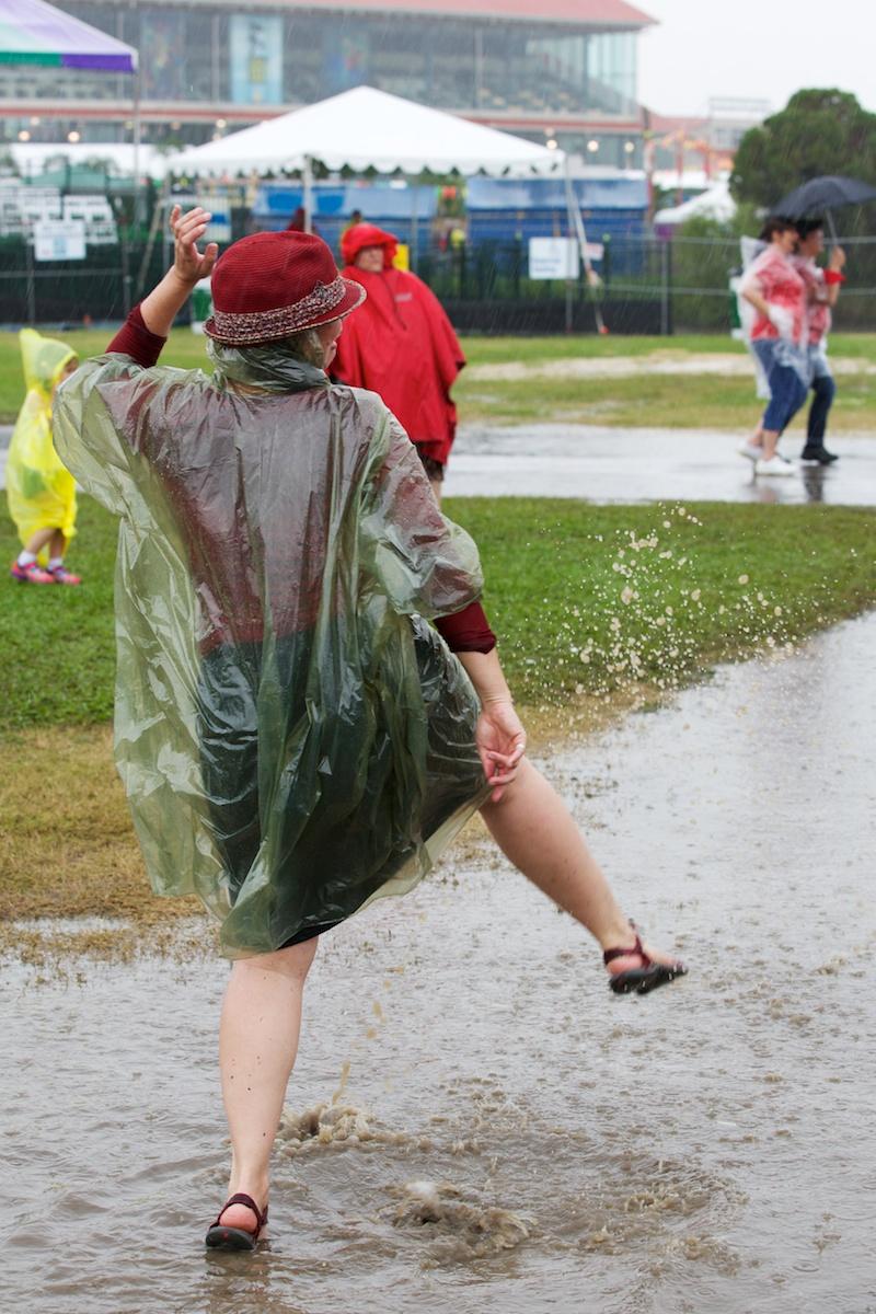 Doing the Fest rain dance