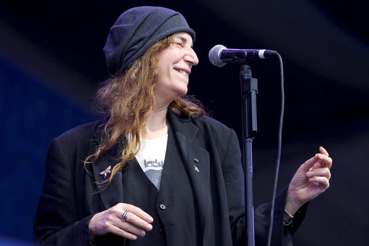 Patti Smith is happy