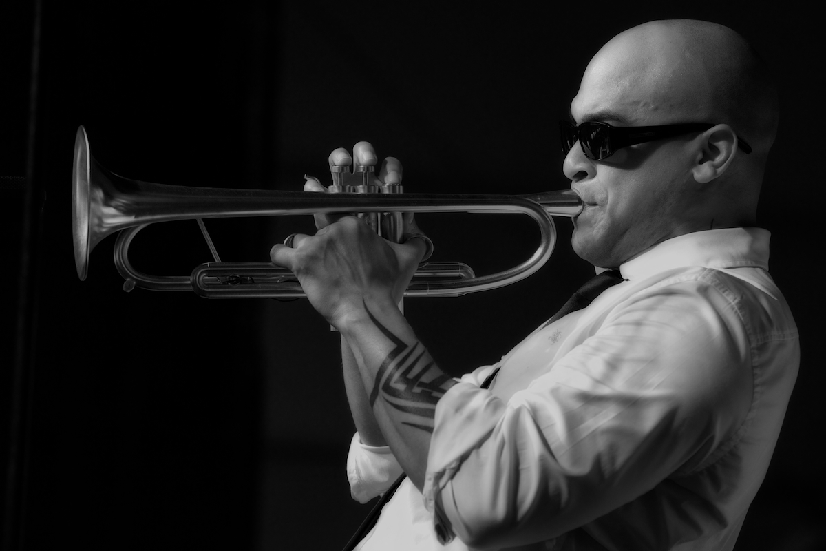 Irvin Mayfield leading the NO Jazz Orchestra