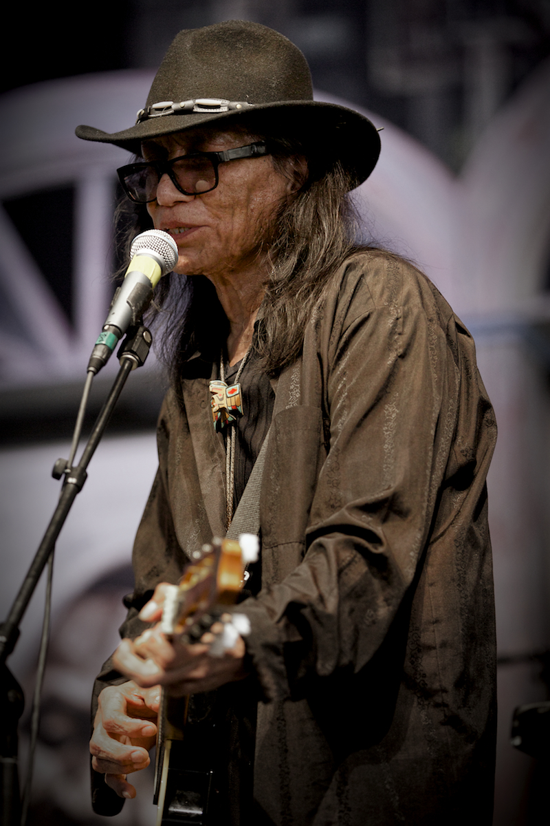 Rodriguez in the Blues Tent