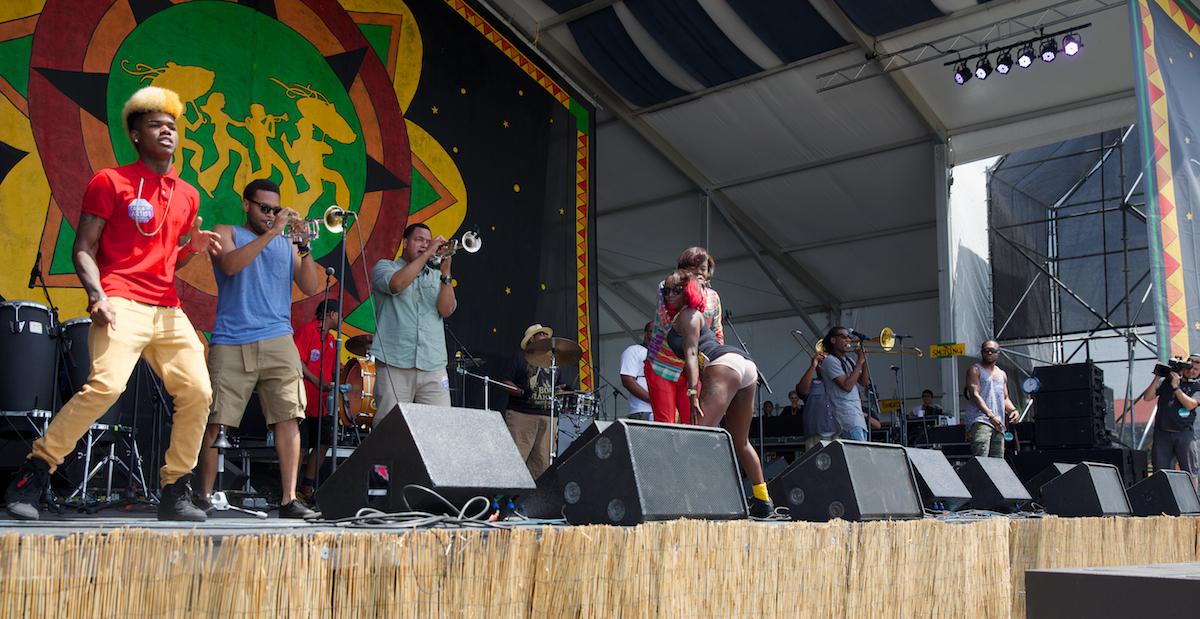 We can twerk it out, the Soul Rebels with Big Freedia