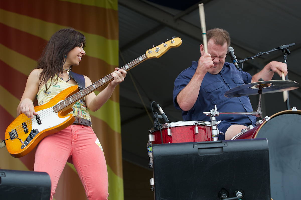 Believe Cowboy Mouth's Fred LeBlanc and Casandra Faulconer know how to work a crowd