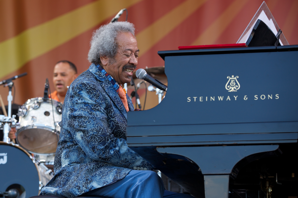 ...with Allen Toussaint at the Acura Stage