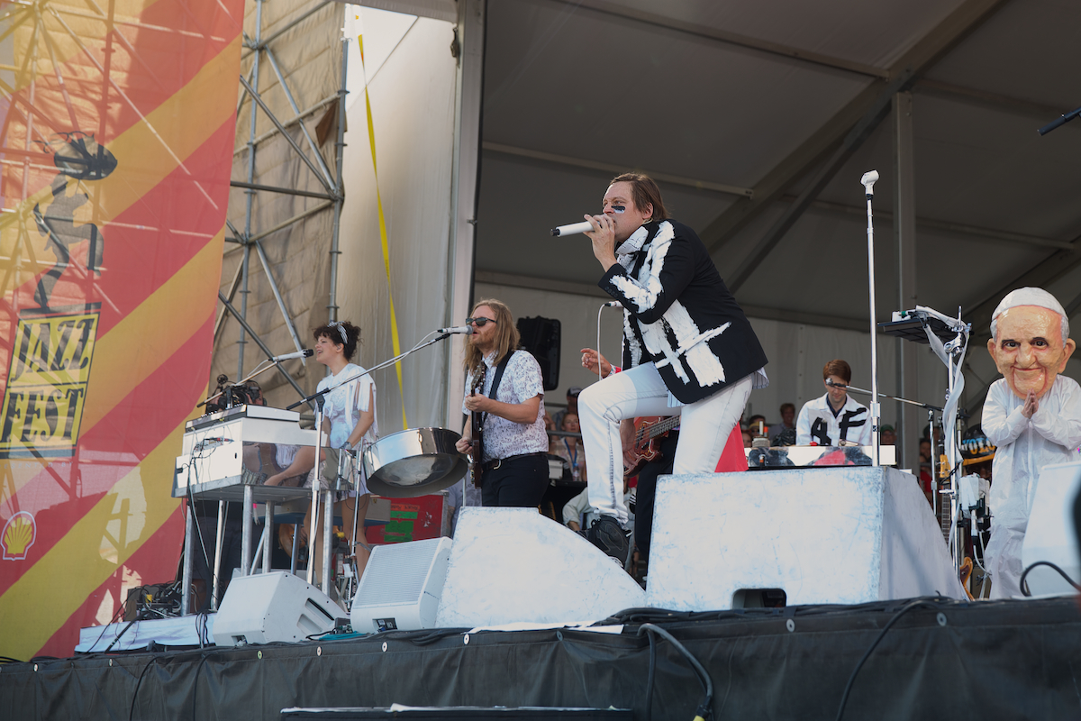 Win Butler, Arcade Fire and the Pope, no punch line