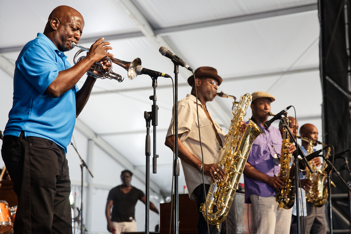 Blodie's Jazz Jam had some horns