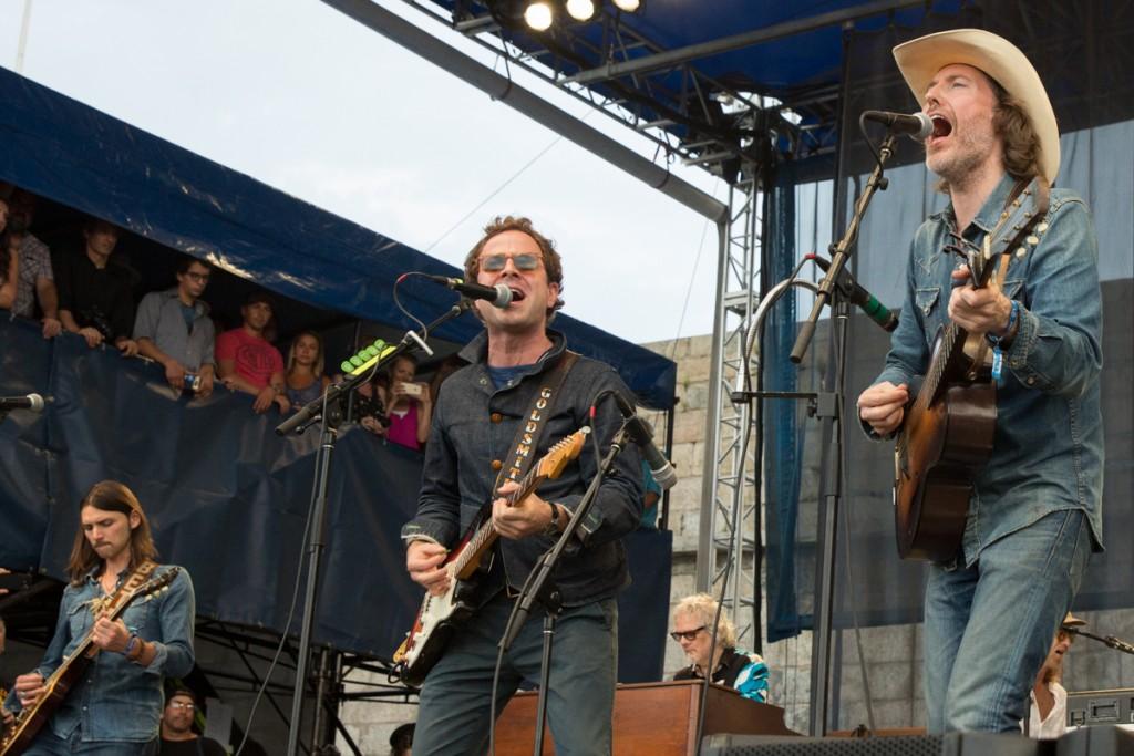 David Rawlings, Taylor Goldsmith and Duane Betts at Newport Folk