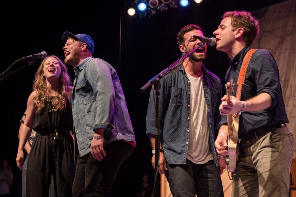 Lone Bellow joined Taylor Goldsmith for an all hands finale
