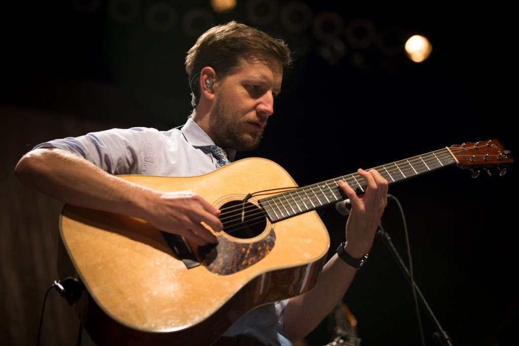 Chris Eldridge spanning the neck with the Punch Brothers