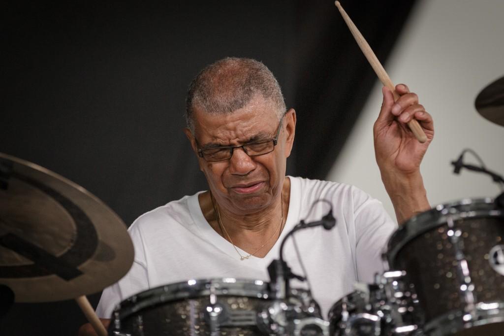 Jack DeJohnette in the Jazz Tent