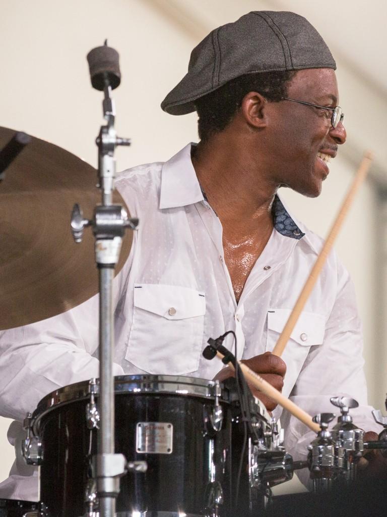 Herlin Riley in the Jazz Tent