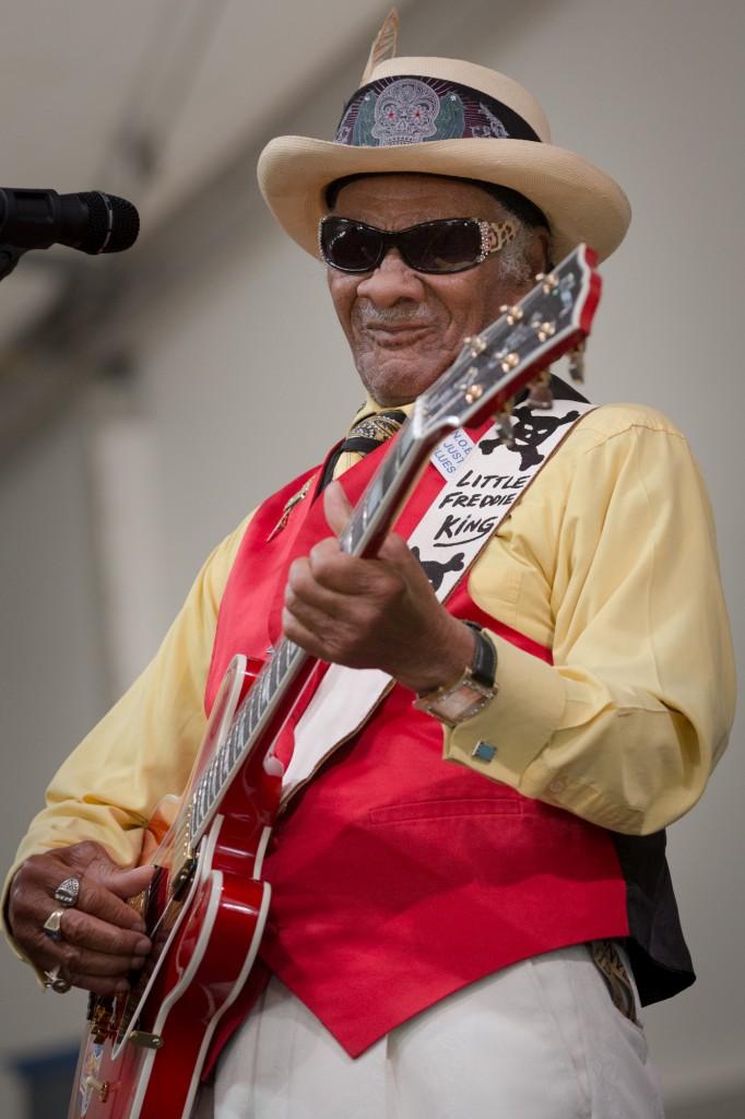 Little Freddie King in the Blues Tent