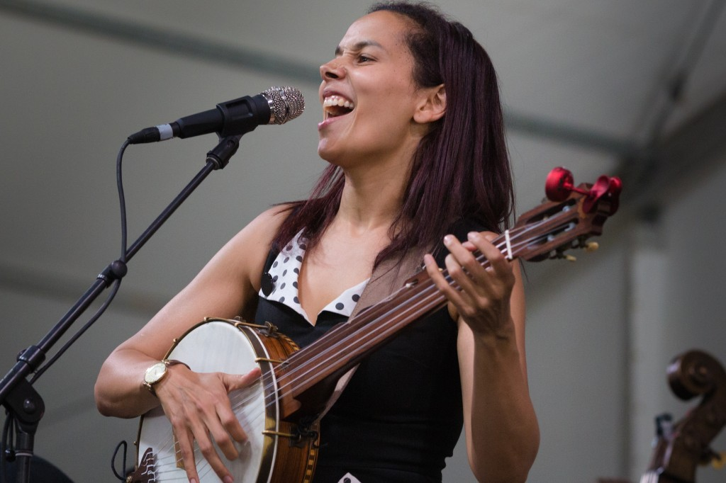 A very buzzed set from Rhiannon Giddens
