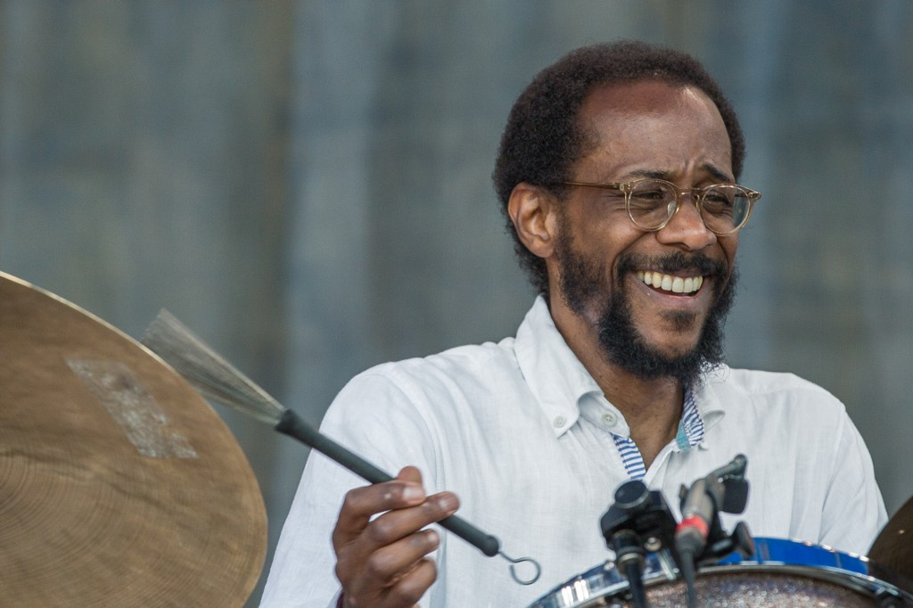 ...while Brian Blade pulled double duty